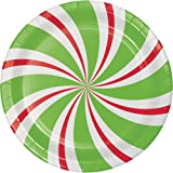 Creative Converting 8-Count Sturdy Style Dessert/Small Paper Plates Peppermint Party  sc 1 st  Amazon.com : peppermint paper plates - pezcame.com