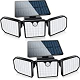 Bebrant Solar Lights Outdoor, 230 LED Solar Motion Sensor Security Lights IP65 Waterproof, Solar Flood Lights 360° Adjustable