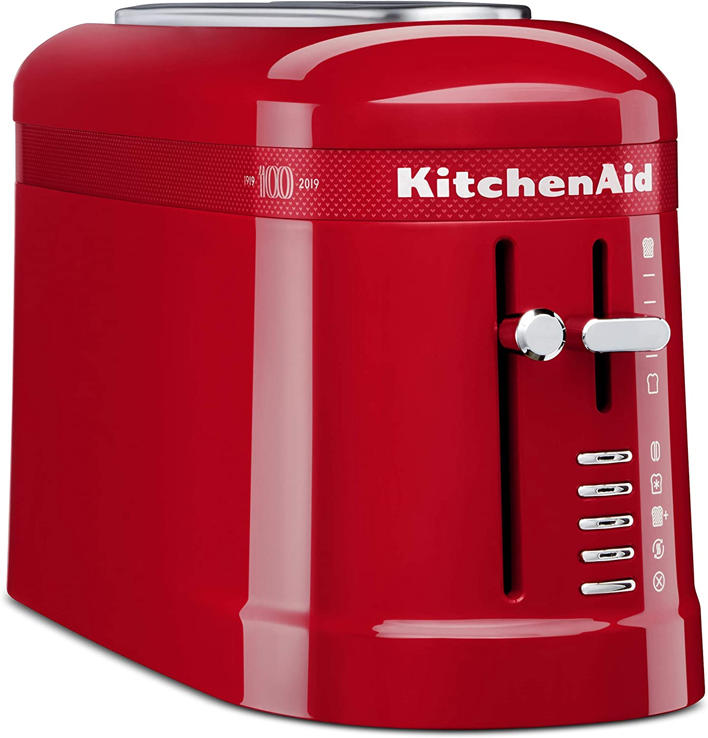 KitchenAid KMT3115QHSD 100 Year Limited Edition Queen of Hearts Toaster, 2-Slice, Passion Red (Renewed)