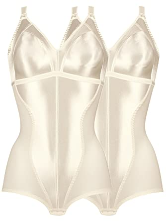 5ff250228c Naturana Pack of 2 Women s Minimiser Bodyshaper 3263 Ivory 36 B at Amazon  Women s Clothing store
