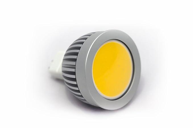 LED COB MR16 GU5.3 Bombilla Lámpara Foco 4 W cerámica blanca fría