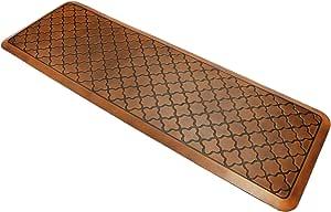 Butterfly Anti-Fatigue 24 by 70 Inch Quatrefoil Kitchen Comfort Mat, Antique