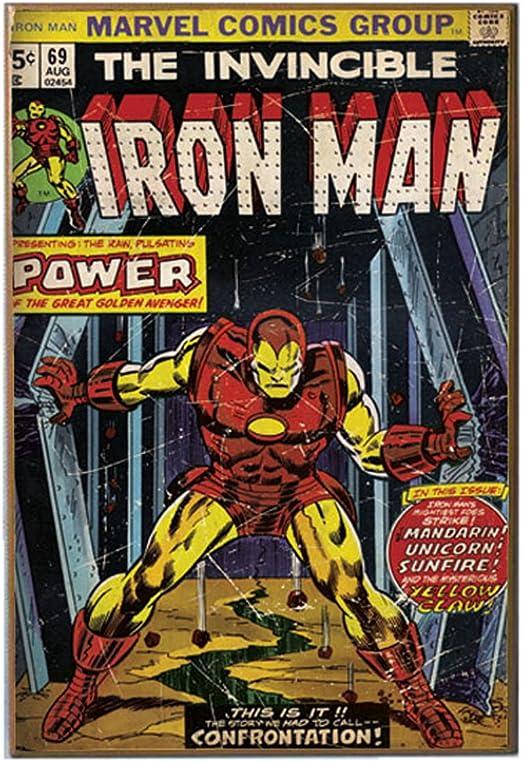 Marvel Silver Buffalo MV6636 Iron Man Power 13 x 19 pulgadas tablero de fibra de densidad media de 13 x 19 pulgadas