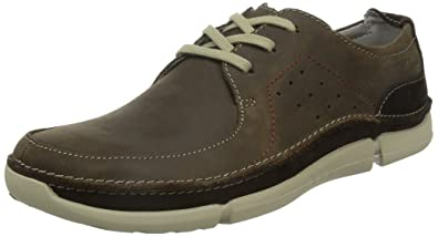 Clarks Trikeyon Fly, Herren Derby Schnürhalbschuhe, Braun (Brown Leather),  40 EU