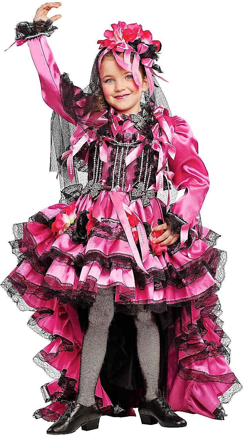 Costume di CARNEVALE da Ballerina BRASILIANA Vestito per Ragazza Bambina 7-10 Anni travestimento Veneziano Halloween Cosplay Festa Party 53204