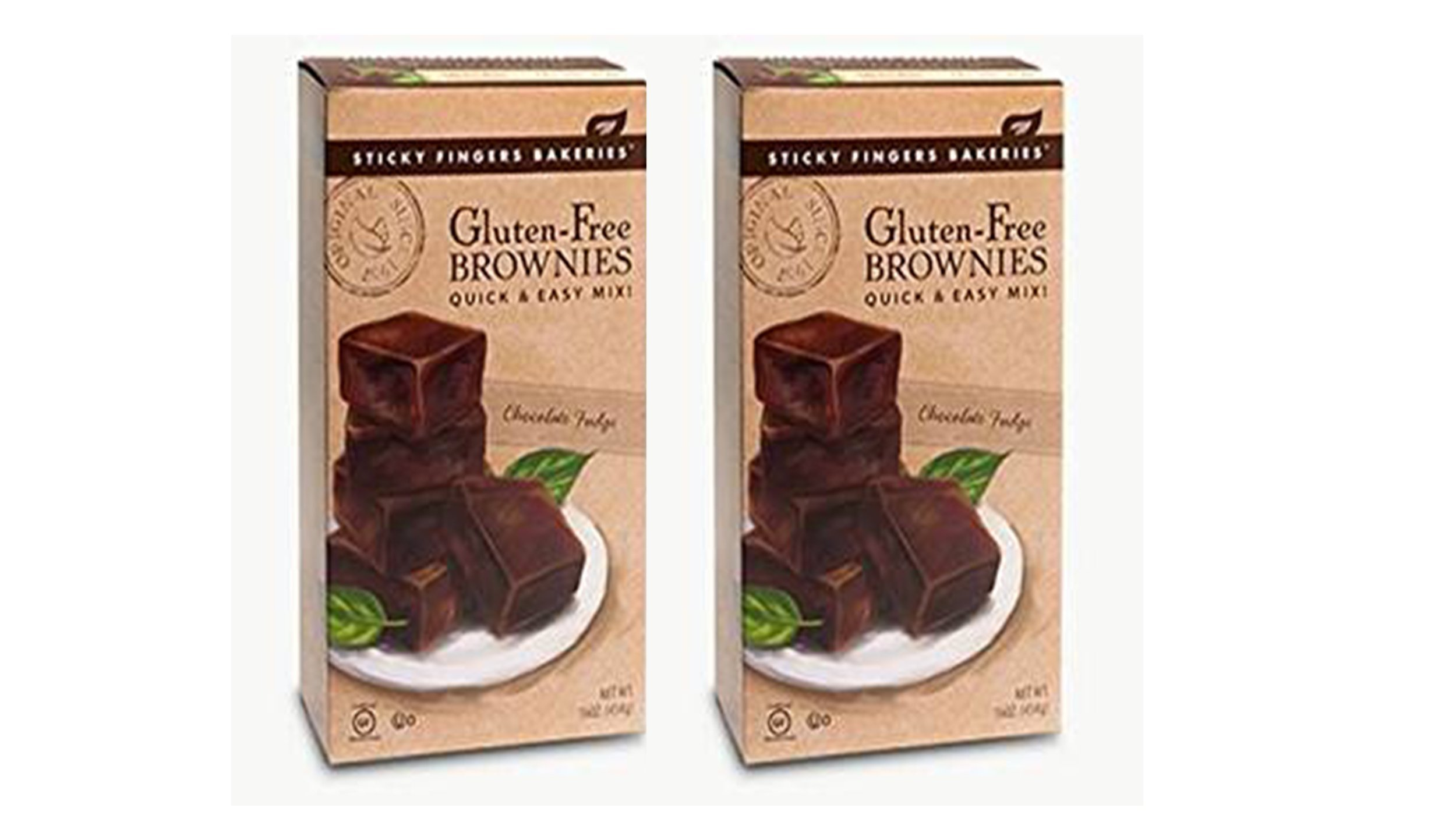 Sticky Fingers Bakeries | Gluten Free Chocolate Fudge Brownies Mix 16oz 2-Pack