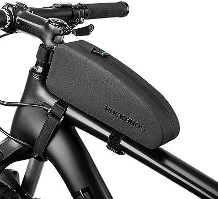 ROCKBROS Waterproof Cycling Frame Bag Bicycle Top Tube Bike Bags Black Size M