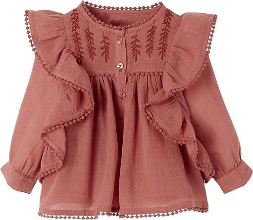 Blusa de volantes para niña con bordado cabra 80 cm: Amazon ...