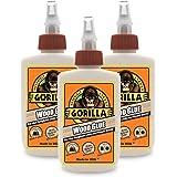 Gorilla Wood Glue, 4 ounce Bottle, (Pack of 3)