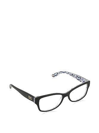 7215d3b26920 Dolce & Gabbana Eyeglasses Women's 3204 Peach Flowers 2994, Black /  Maioliche Portoghesi Frame Plastic, 53mm: Amazon.co.uk: Clothing