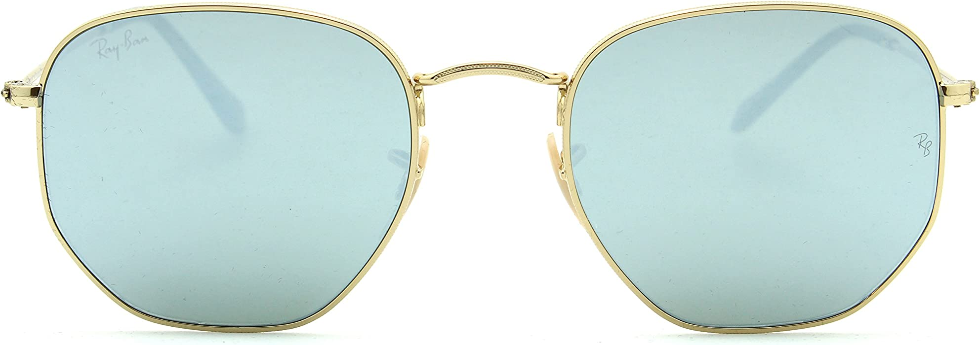 Amazon.com  Ray-Ban RB3548N Hexagonal Flat Lenses Unisex Sunglasses 001 30  - 54mm  Clothing 6d11a96690