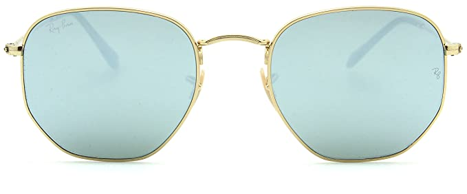 2f7eaaf213 Image Unavailable. Image not available for. Color  Ray-Ban RB3548N Hexagonal  Flat Lenses Unisex Sunglasses 001 30 ...