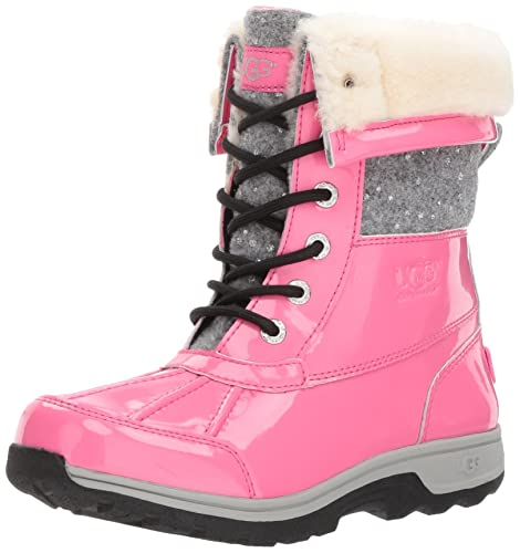 5a7214c73a6 UGG Girls K Butte II Patent Sparkle Lace-Up Boot