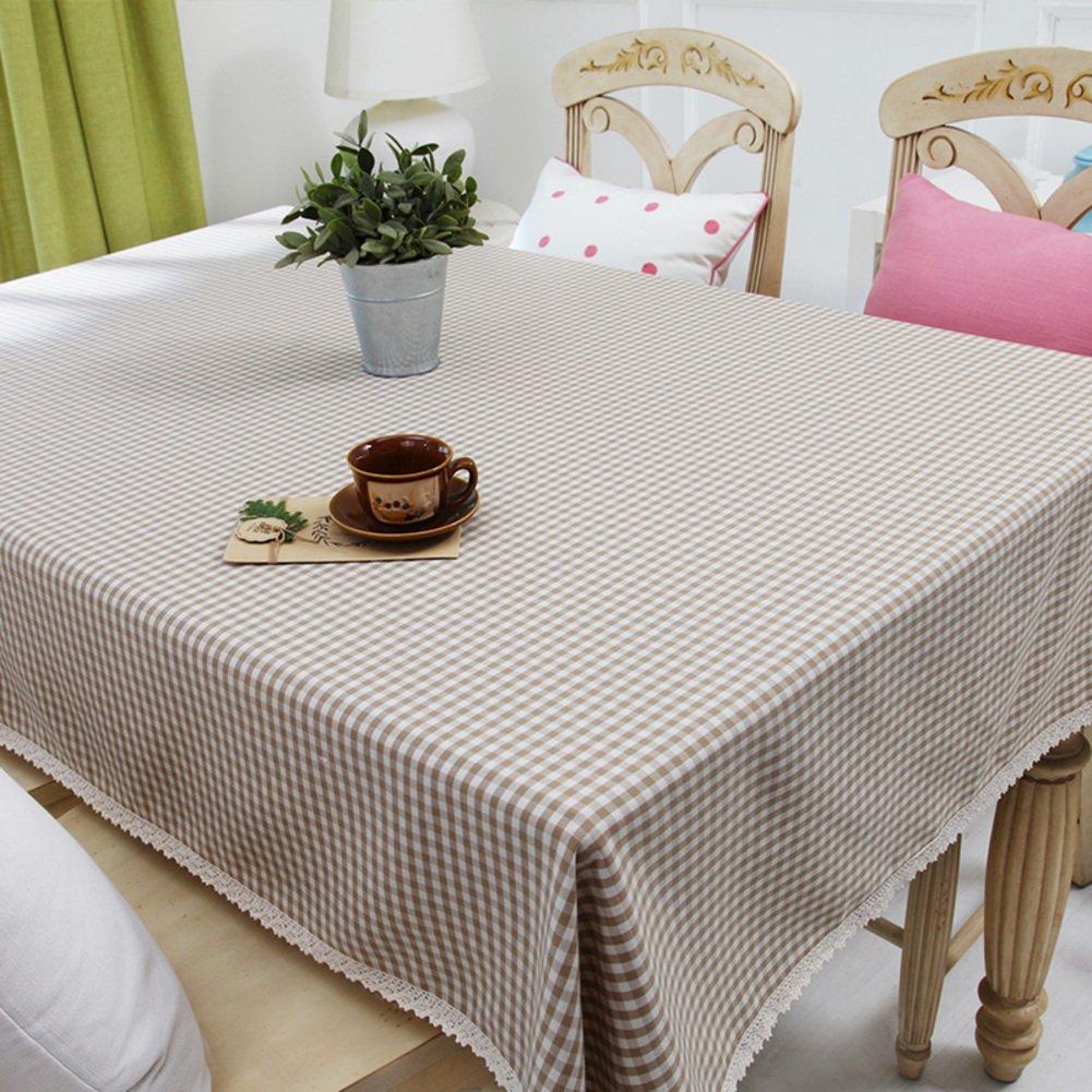 Grid tischtuch dining zimmer rural table leinen european style tisch für zuhause hotel cafe restaurant-C 5586inch(140220cm)
