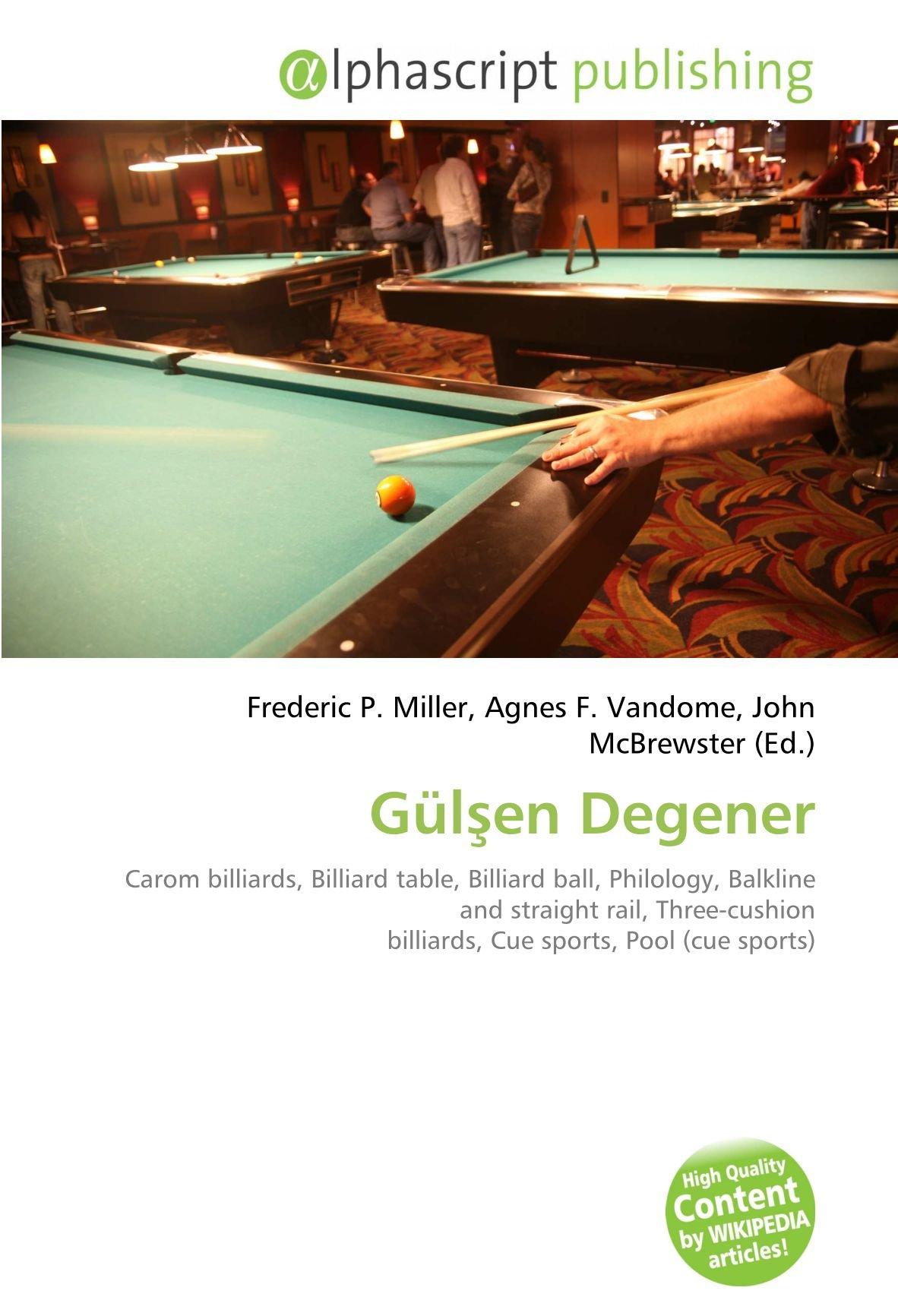 G?l?en Degener: Amazon.es: Miller, Frederic P, Vandome, Agnes F, McBrewster, John: Libros en idiomas extranjeros