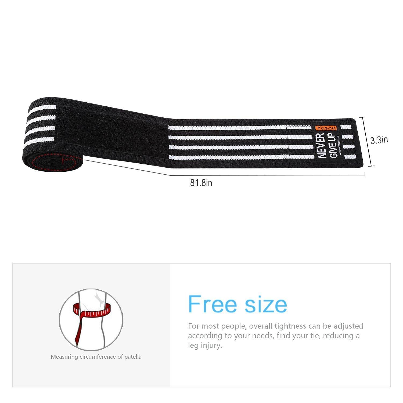culturisme id/éal pour Power Lifting Sport Enveloppement yosoo Knee Elbow Wraps Bandage pour genou /élastique soutien cuisse vos genoux Mollet Leg compression