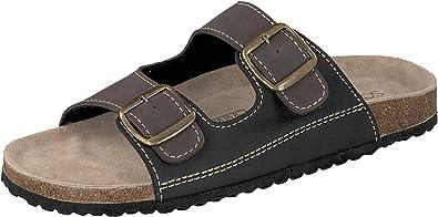 Supersoft Herren Hausschuhe Pantoffeln 2er Riemen 174 001 in