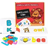 Sesuval Matching Letter Game,Letter Spelling and Reading Memory Game for Preschool Kindergarten Letter Writing and…