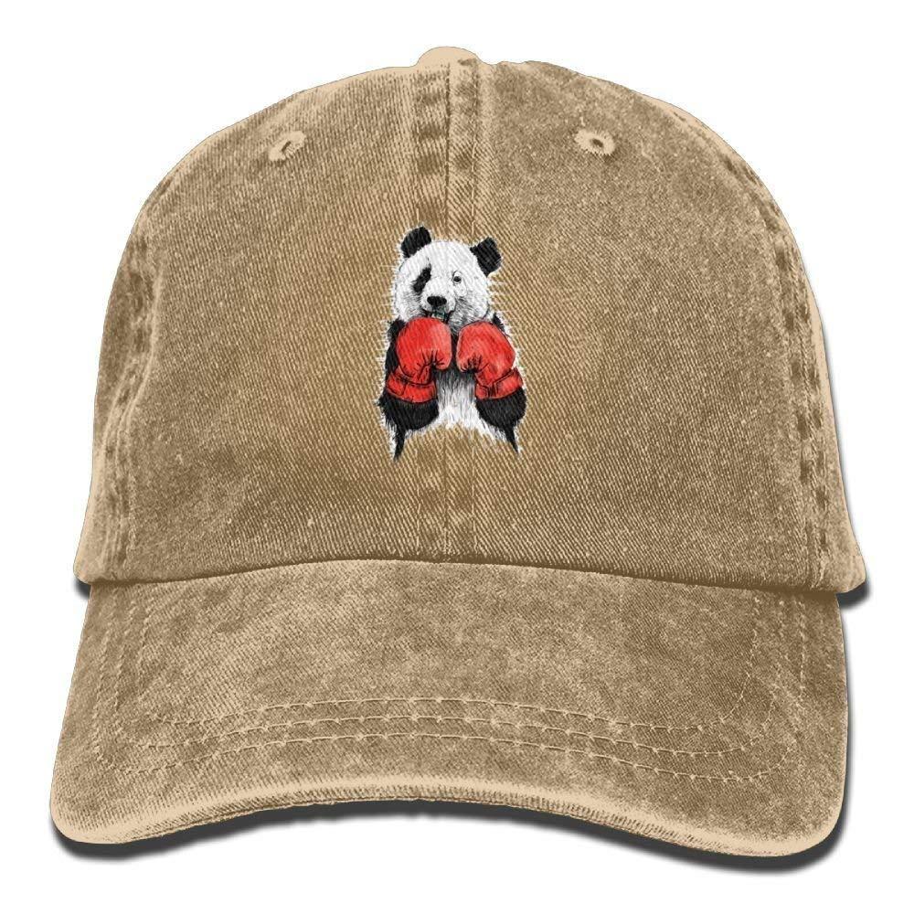 JTRVW Cowboy Hats Panda Boxing Denim Hat Adjustable Mens Tactical Baseball Hats