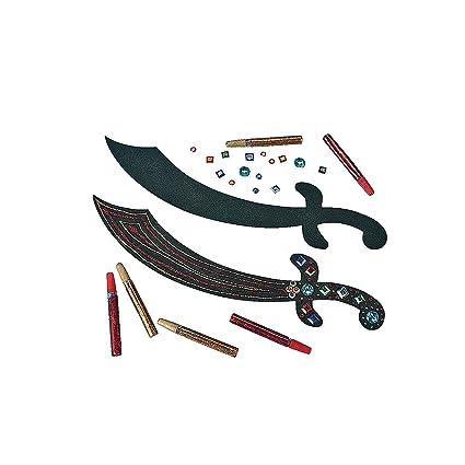 Amazon.com: Espada pirata Craft Kit 12 ct: Toys & Games
