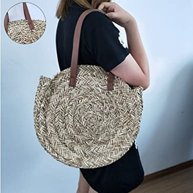 Amazon.com: Bamboo straw beach bag - Vintage semi-circle bag - Handmade handbag - Bamboo wallet - Straw beach bag lady: Shoes