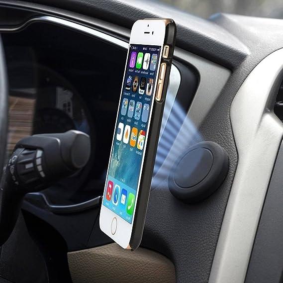 ed11b27bac6 Elektro Goods Soporte magnético para Celular - imán Adhesivo para Detener  tu Smartphone en tu Auto - para iPhone, Samsung ...