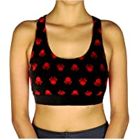 850890127016a Disney Minnie Mouse Minzana Jrs Athletic Sports Bra Crop Top