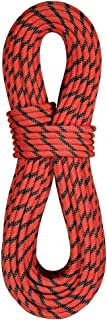 product image for BlueWater Ropes 9.9mm Pulse Double Dry Dynamic Single Rope (Red Orange/Black, 60M)