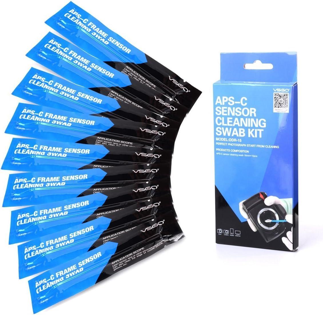XCSOURCE® Kit de Limpieza Frame 10pcs Seco CCD SWAB APS-C para DSLR CCD CMOS Cámaras SLR DC580