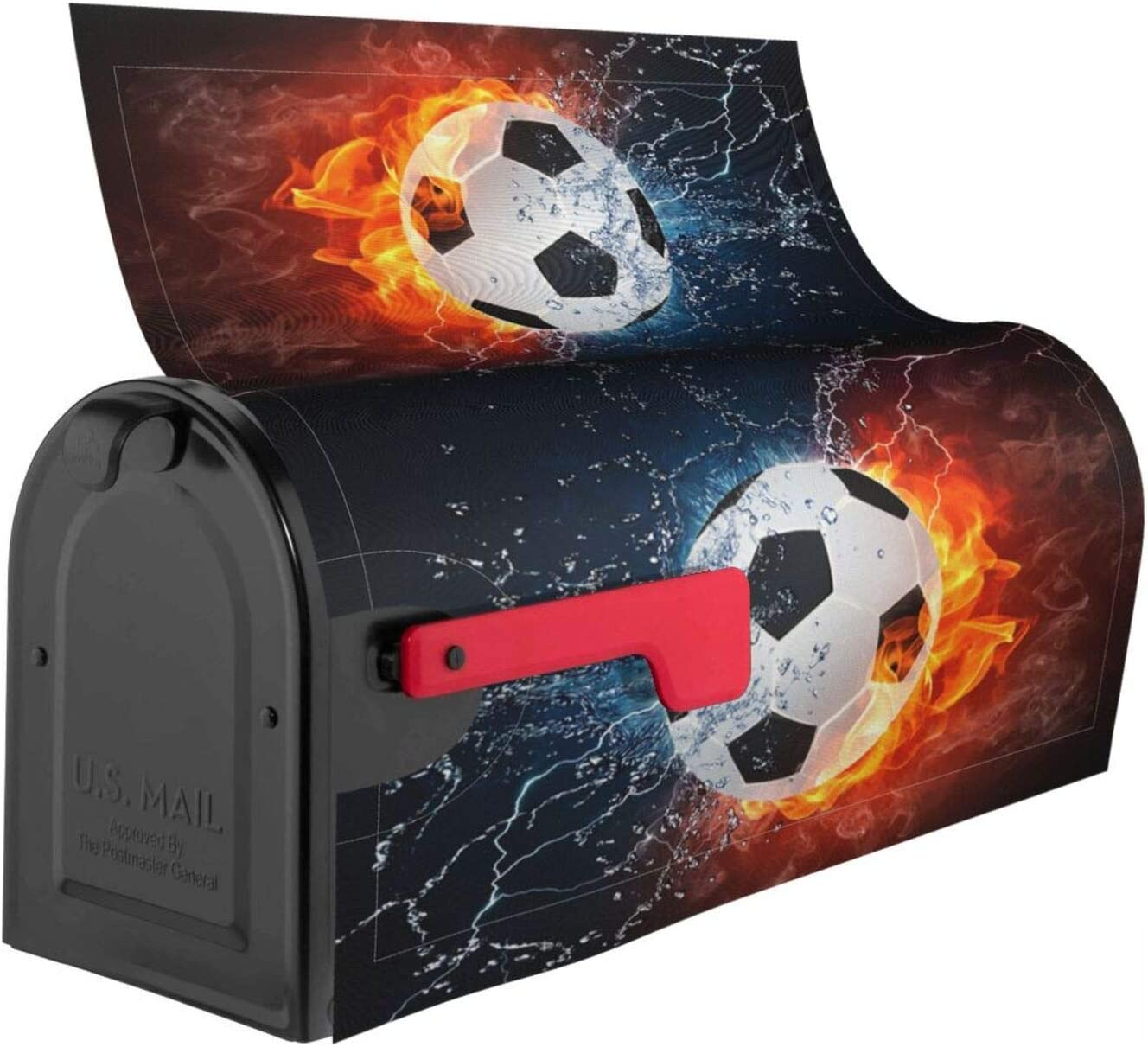 QOR Balance Turquoise Soccer Mailbox Cover Magnetic Post Letter ...