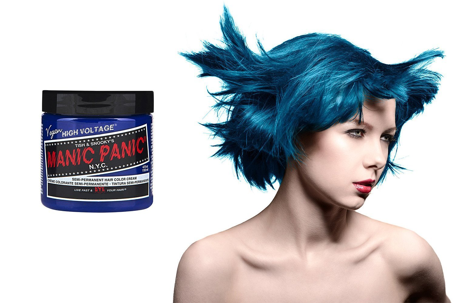 Blue Midnight hair color manic panic pictures