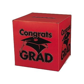 Amazon.com: Congrats Grad tarjeta roja caja: Office Products