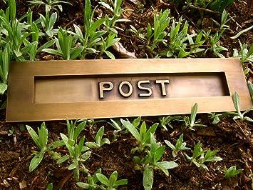Messing massiv sehr hochwertig- Briefschlitz Briefschlitz für alte Haustür