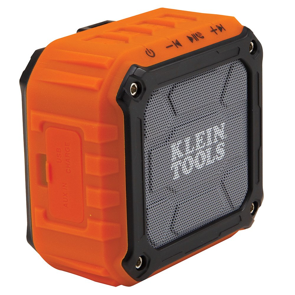 Klein Tools AEPJS1 Wireless Speaker, Portable Jobsite Speaker Plays Audio and Answers Calls Hands Free, Durable Enough…