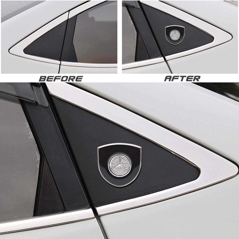 JYMAOYI For Cadillac Emblem 2PCS Car Decal 3D Cadillac Logo Badge Crystal 2.16X2.16 Shield Sticker Zine Alloy for All Cadillac