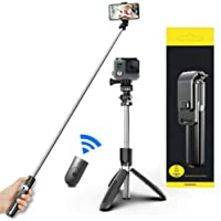Selfie Stick For Phone Size 4.5-6.2Inch, Extendable Selfie Stick Tripod with Bluetooth Wireless Remote Phone Holder for…