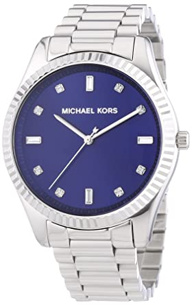 a271442cb228 Image Unavailable. Image not available for. Color  Michael Kors Blake Blue  Dial Stainless Steel Women s Watch MK3225