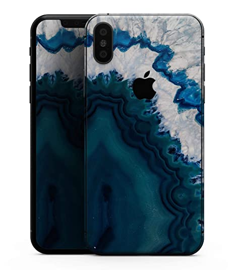 timeless design 23687 59176 Bright Blue Agate Slice - Design Skinz Premium Skin Decal Wrap for The  iPhone X