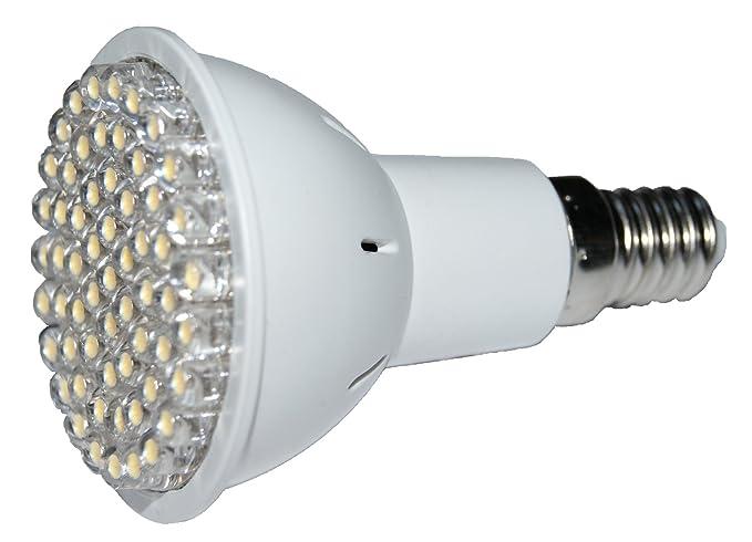 Bombilla LED tipo JDR E14/R50 – 60 LED blanco cálido 3 W=50