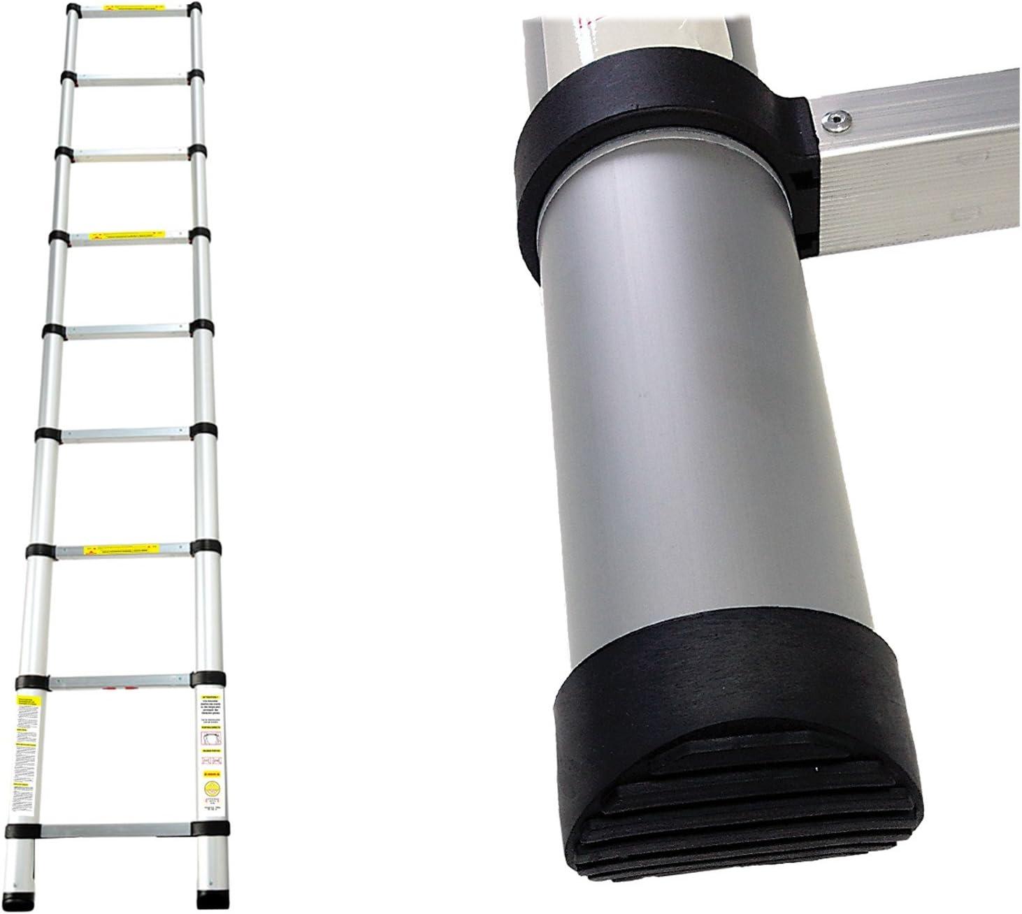EN 131 2,6 m/ètre Sac de transport OFFERT /Échelle Extensible Leogreen /échelle d/éploy/ée Charge maximale: 150 kg s Echelle Telescopique Distance entre les marches : 30 cm