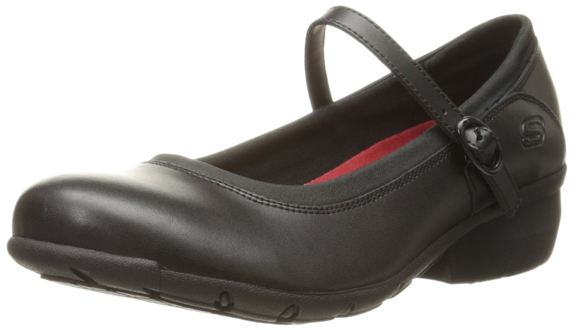 Skechers for Work Women's Toler Slip Resistant Shoe, Black, 8.5 B(M) US