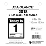 """AT-A-GLANCE Daily Wall Calendar Refill, January 2018 - December 2018, 6"""" x 6"""", """"Today Is"""" Design (K150)"""