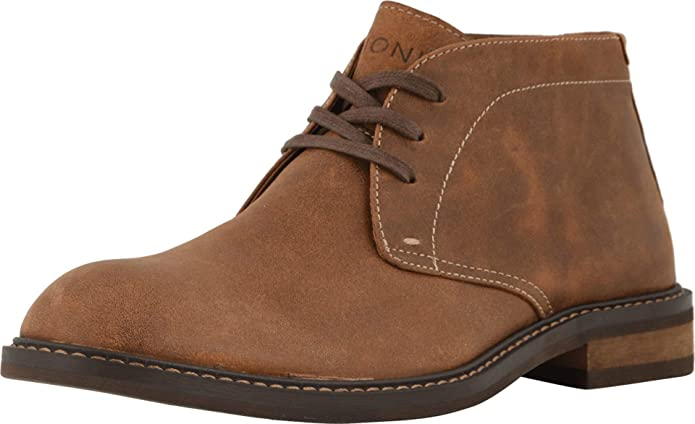 Vionic Men's Bowery Chase Chukka Boot - Mens Lace up Boot with Concealed Orthotic Arch Support