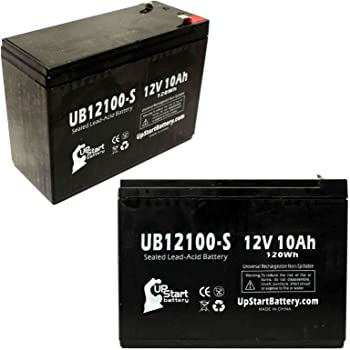amazon com 2x pack rascal 370 fold go battery replacement