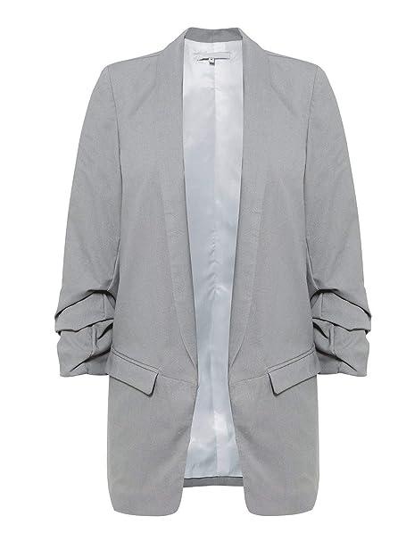 de calidad superior gran descuento diseño popular Blazer Mujer Largos Elegante Moda Ocasional Chaqueta De ...