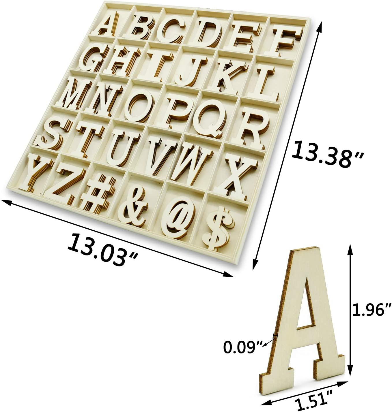 ,Wooden Alphabet Crafting Letters Set,260 Pcs Small Unfinished Capital Letters for DIY Signs Labels Kids Crafts /¡/ A-Z 10 Packs of