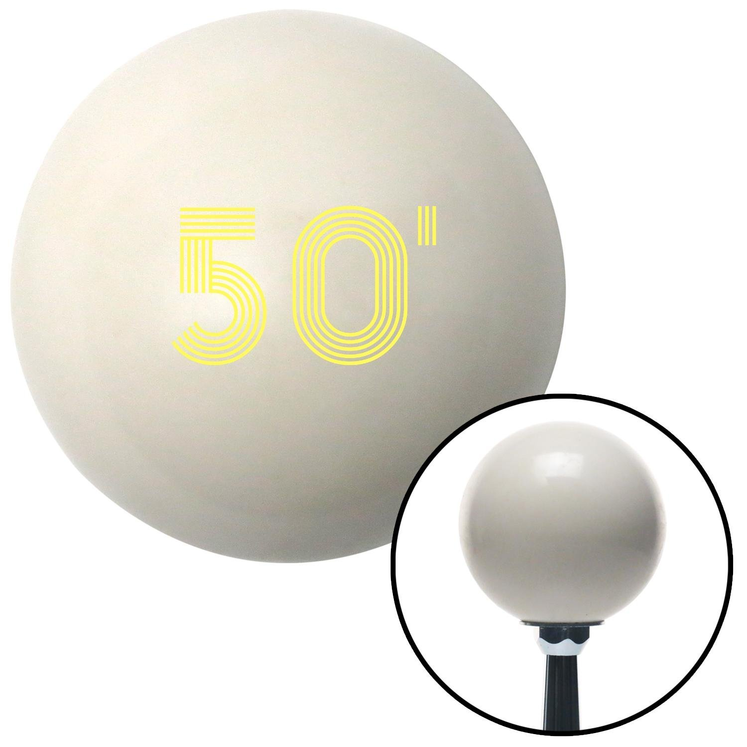 American Shifter 142453 Ivory Shift Knob with M16 x 1.5 Insert Yellow 50 Year Retro Series