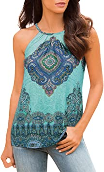 Shusuen Womens Summer Casual Tops Lace Flowy Loose Shirts Tank Tops Lace Flare Blouse