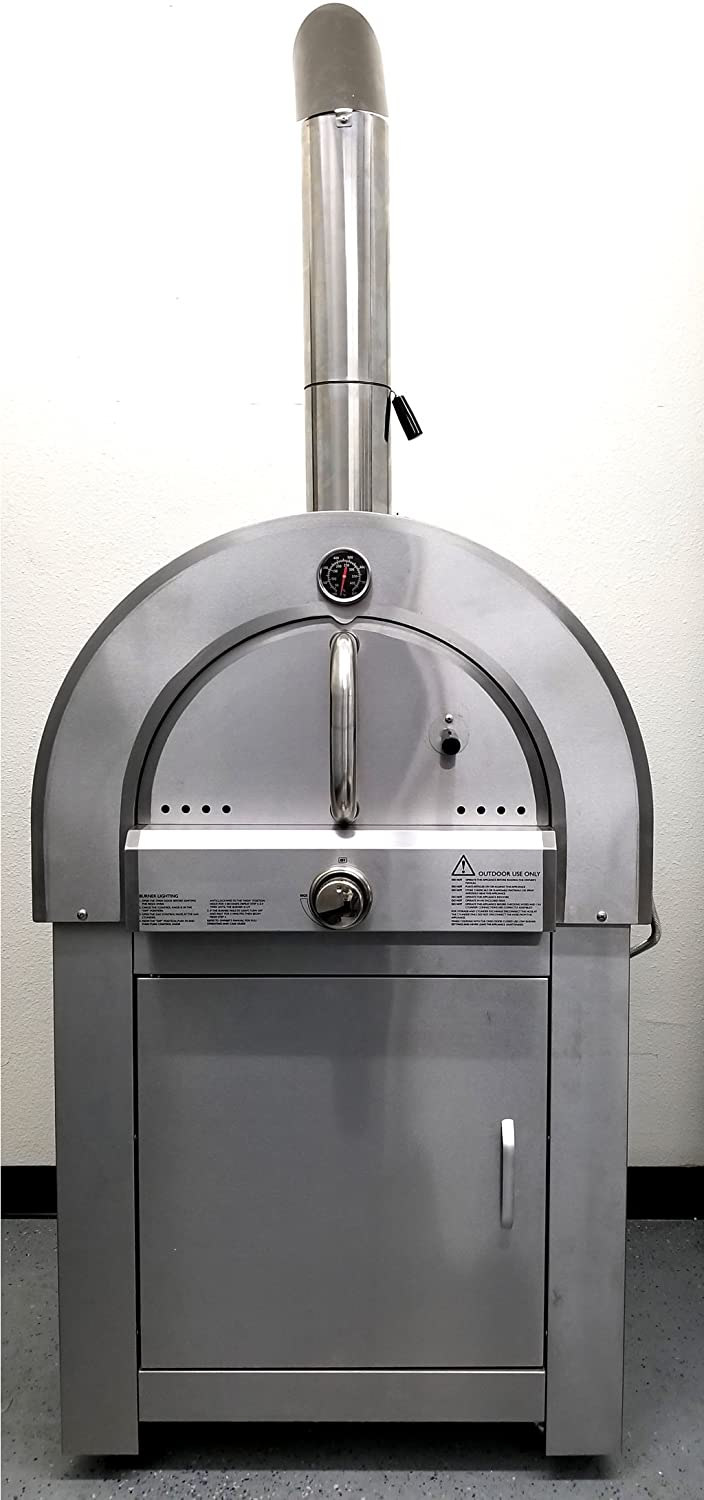 30.5 LPG Propane Gas Stainless Steel Artisan Pizza Oven or Grill Outdoor or Indoor