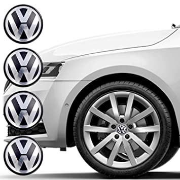 Set of 4 Wheel Center Caps for VW, Car Wheel Hubcaps 65mm Outer Diameter,  Replacement Wheel Center Caps, Rim Caps, Center Hub Caps